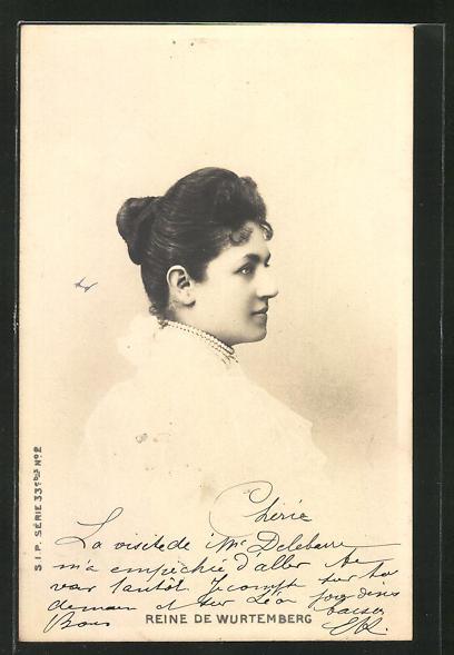 AK Reine de Wurtemberg, Königin von Württemberg