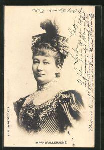 AK Portrait der Kaiserin Auguste Victoria Königin von Preussen