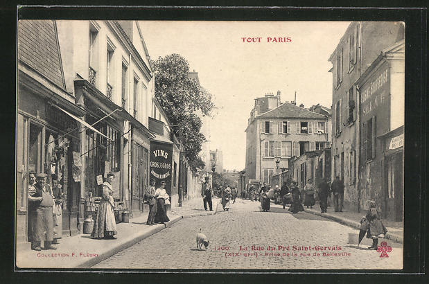 AK Paris, La Rue du Pré Saint-Gervais