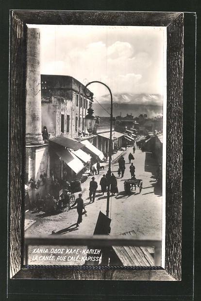 AK La Canée / Kreta, Rue Calé-Kapissi, Strassenansicht