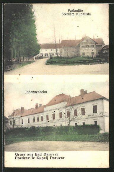 AK Bad Daruvar, Parkmitte, Ansicht vom Johannesheim