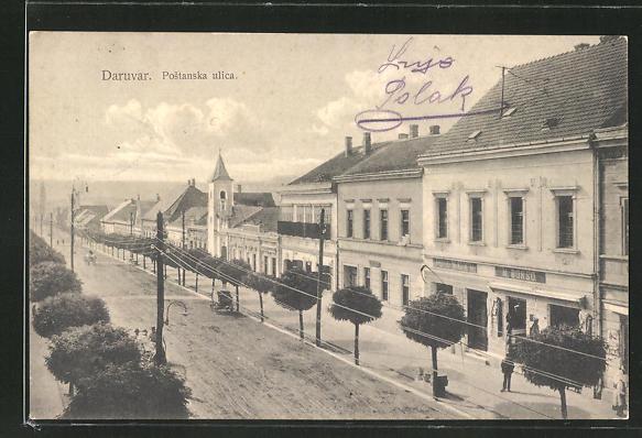 AK Daruvar, Postanska ulica, Strassenpartie