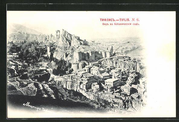 AK Tiflis, Blick auf die Stadt