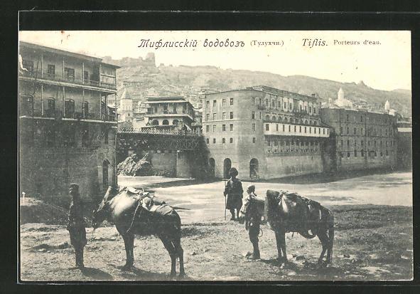 AK Tiflis, Porteurs d'eau, Partie am Fluss