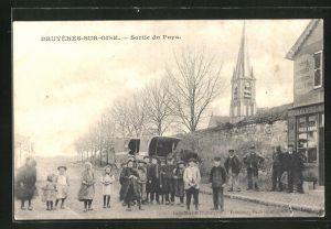 AK Bruyères-sur-Oise, Sortie du Pays, Strassenpartie