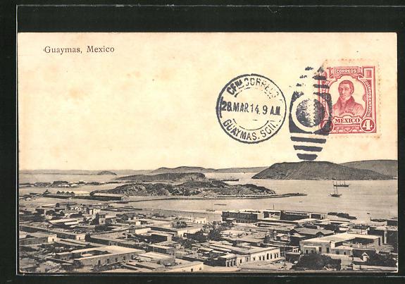 AK Guaymas, Teilansicht mit Hafen