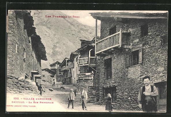 AK Canillo, La Rue Principale, Strassenpartie im Ort