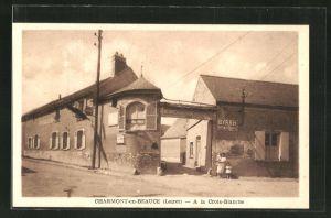 AK Charmont-en-Beauce, A la Croix-Blanche