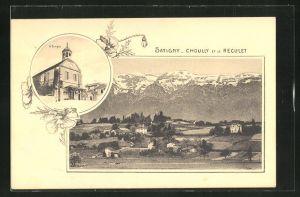 AK Satigny, Satigny Choully et le Reculet, Le Temple