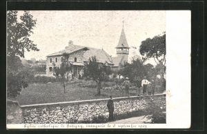 AK Satigny, Eglise catholique de Satigny, inauguree le 6 septembre 1903