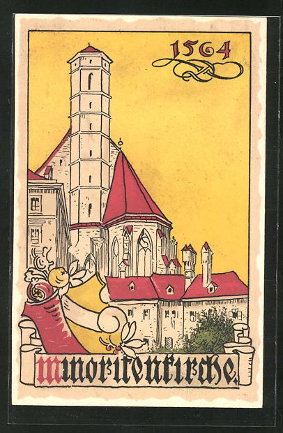 AK Wien, Minoritenkirche im Jahr 1564