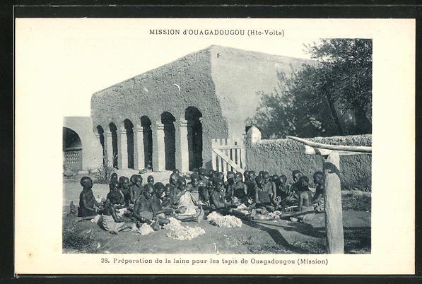 AK Ouagadougou, Préparation de la laine pour les tapis de Ouagadougou, Mission
