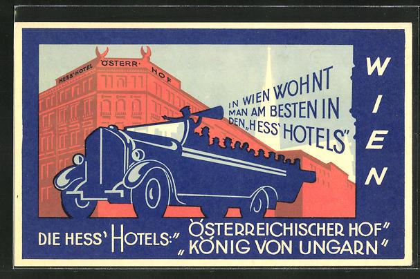 AK Wien, Hess'Hotel, Österr. Hof