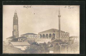 AK Skopje / Ueskueb, Blick zur Moschee