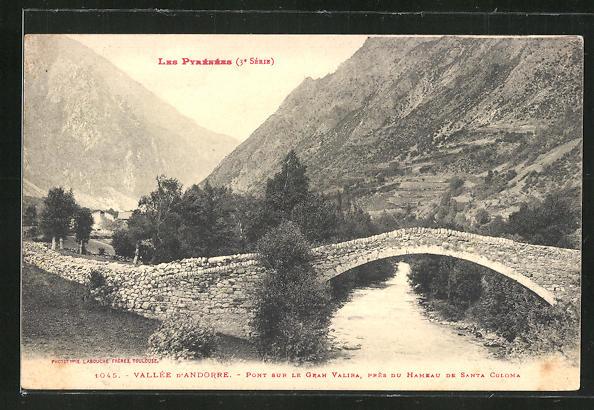 AK Vallee d'Andorra, Pont sur le Gran Valira, pres du Hameau de Santa Coloma