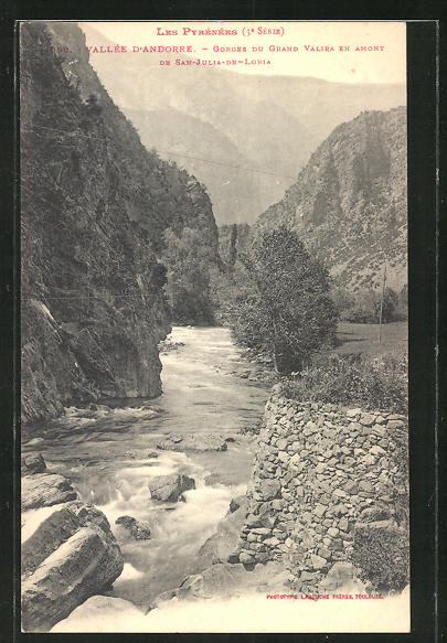 AK Andorra, Gorges du Grand Valira en amont de San-Julia-de-Loria