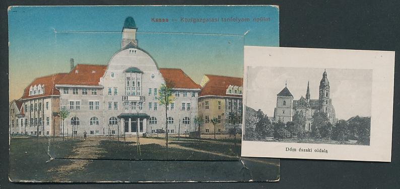 Leporello-AK Kassa, Fö-utca, Kossuth Lajos utca, Dóm déli oldala