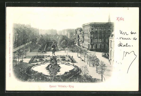 Relief-AK Köln-Neustadt, Blick über den Kaiser-Wilhelm-Ring