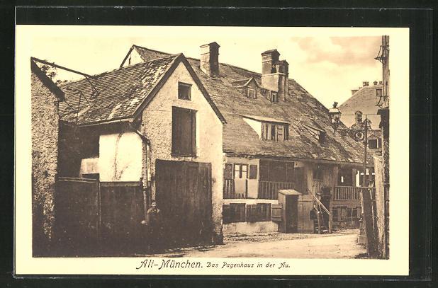 AK München-Au, das Pagenhaus in der Au
