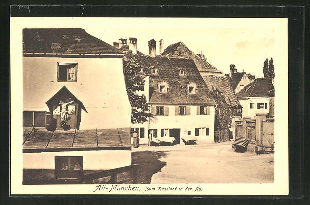 AK München-Au, Zum Kegelhof in der Au