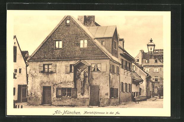 AK München-Au, Mariahilfstrasse in der Au