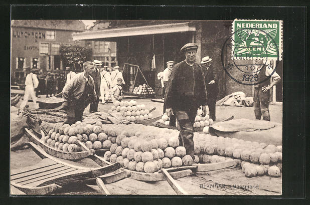 AK Alkmaar, Kaasmarkt, Motiv vom Käsemarkt