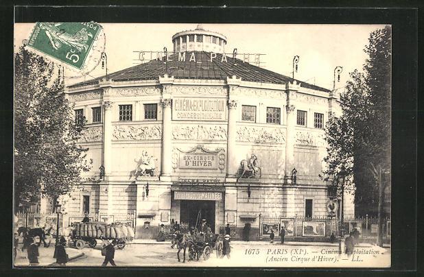 AK Paris, Cinéma Exploitation, Ancien Cirque d'Hiver, ehem. Zirkus, später Kino