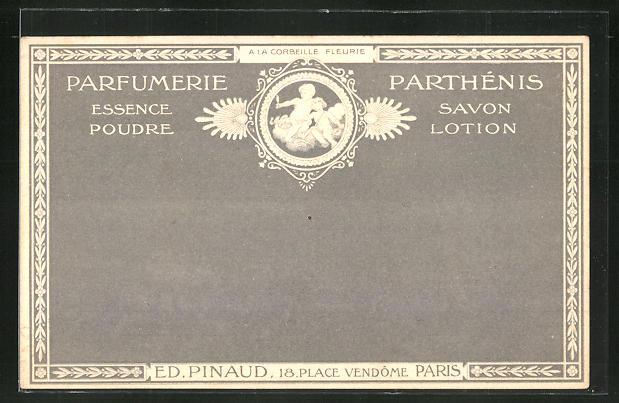 Präge-AK Paris, Ed. Pinaud, Parfumerie Parthénis, 18 Place Vendôme