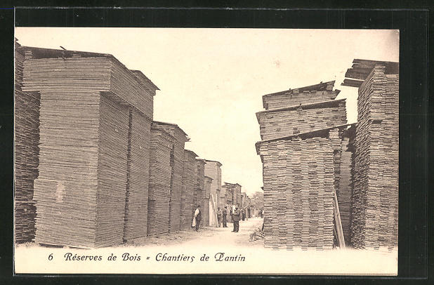 AK Pantin, Réserves de Bois, Chantiers, Tischler Félix Louis, 37-39, rue Victor-Hugo