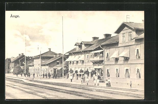 AK Ange, Partie am Bahnhof
