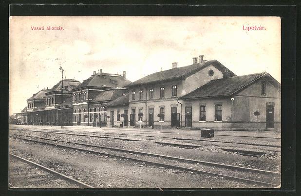 AK Lipotvar, Vasuti allomas, Partie am Bahnhof