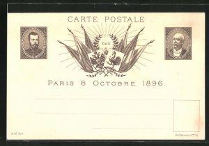 AK Zar Nikolaus II. von Russland und Félix Faure, Treffen am 6.10.1896