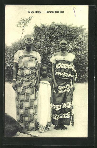 AK Congo Belge, Femmes Bangala, afrikanische Volkstypen
