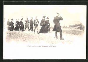 AK Zar Nikolaus II. von Russland in Uniform bei Fort de Witry