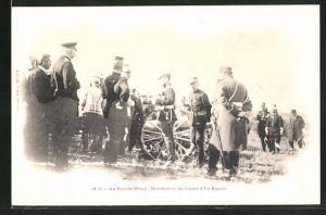 AK Zar Nikolaus II. von Russland beim Fort de Witry im Manöver