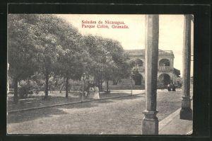 AK Granada, Parque Colon, Strassenansicht