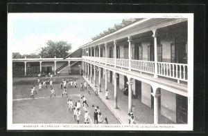 AK Managua, Instituto Pedagogico, Corredores y Patio de la Seccion Primera