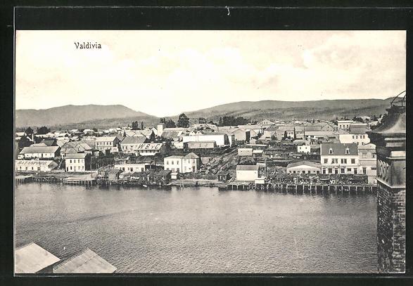 AK Valdivia, Ortsansicht am Wasser