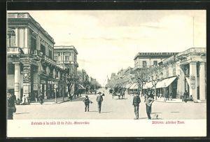 AK Montevideo, Entrada á la calle 18 de Julio