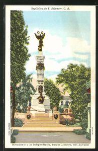 AK San Salvator, Monumento a la Independencia, Parque Libertad