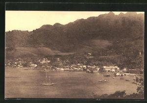 AK Kingstown, Hafenpartie mit Booten
