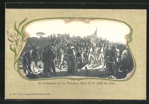 AK Montevideo, El Juramento de los Treinta y Tres 19 de abril de 1825