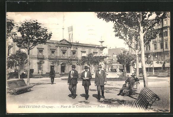 AK Montevideo, Place de la Constitution, Palais Legislatif