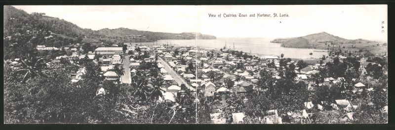 Klapp-AK St. Lucia, View of Castries Town and Harbour