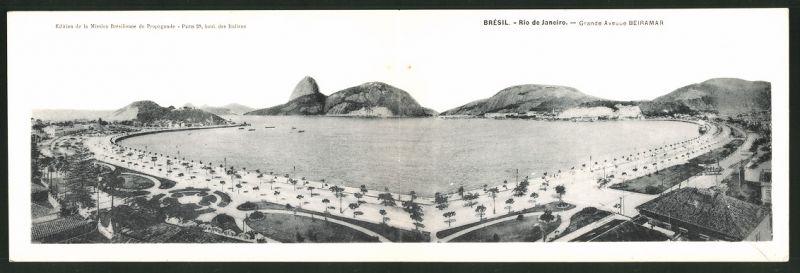 Klapp-AK Rio de Janeiro, Grande Avenue Beiramar, Panorama