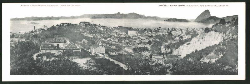 Klapp-AK Rio de Janeiro, Entrée du Port et Baie de Guanabara