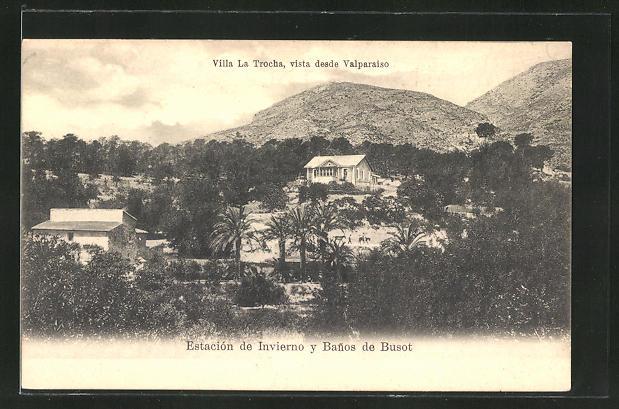 AK Busot, Villa la Trocha, vista desde Valparaiso