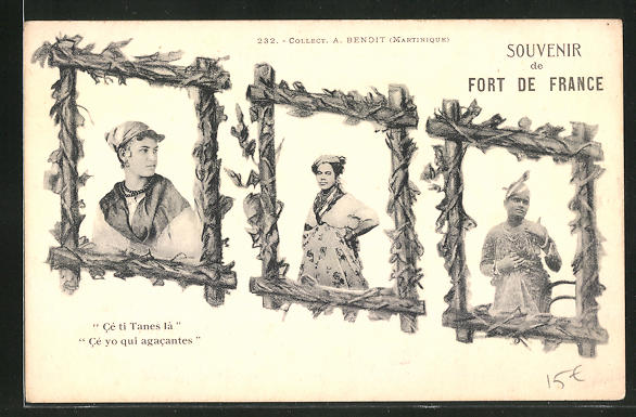 AK Fort-de-France, Ce ti Tanes la, Portraits von verschiedenen Frauen