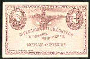 AK Guatemala, Esienbahn und Wappen des Landes