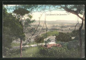 AK San Bernardino, Ausblick vom Cafe Bismarck
